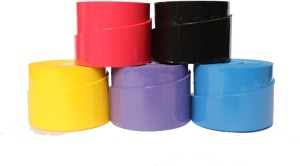 Billiedge Badminton/tennis over Grip (Pack of 5) Assorted colour Extra Tacky  Grip