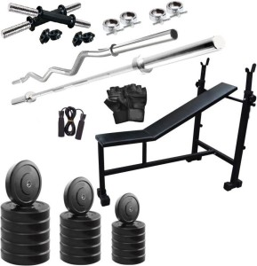 Star X 50 KG HOME GYM COMBO WITH ADJUSTABLE BENCH Gym