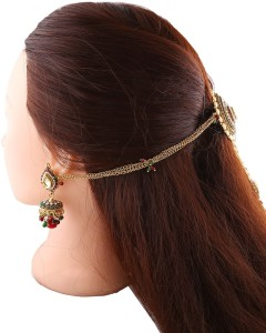 30c93eb68 Anuradha Art Unique in Designer Hair Chain Gold Best Price in India ...