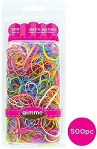 Gimme Clips Gimme Plastic Hair Elastics Variety 500pc Rubber Band ... e981b912569