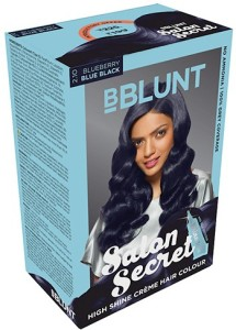 Bblunt Salon Secret High Shine Creme Hair Colorblueberry Blue Black 2 10