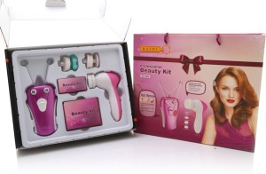 Baidi Multifunction Face and Body Epilator with Facial Cleanser Beauty Kit Machine
