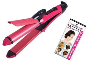 Style Maniac Amazing Hairtsyle Booklet & 2 IN 1 Curler Cum Hair Straightener Professional Hair Straightener
