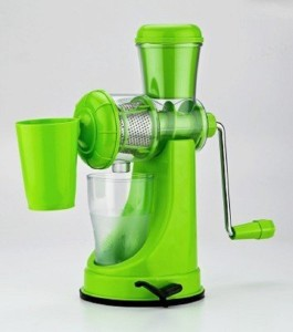 Aesha Fruit And Vegetable Plastic, Stainless Steel Hand Juicer