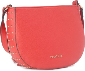 60eca18b814 Bebe Women Casual Formal Festive Red Genuine Leather Sling Bag Best Price  in India