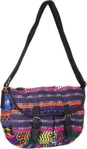 36db4696e071 People Women Multicolor Polyester Cotton Messenger Bag Best Price in ...