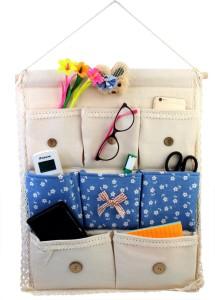 HOKIPO 3-Layer Pocket Wall Door Closet Accessories Organizer, TV & Media Console Organizer, Stationery Organizer, Closet Organizer, Bookcase Organizer, Regular Organizer
