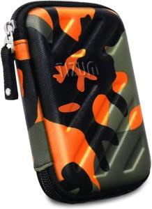 TIZUM Hard Drive Case 2.5 inch GPS -Premium Edition (Camouflage Orange)