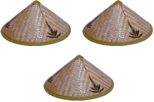3bd530a4461 Oxytrends Chinese Farmer Hat Light Brown Pack of 3 Best Price in ...