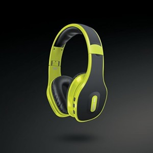 Sharper Image Sbt559Lm Universal Wireless Bluetooth 4.0 Headphones With Mic, Lime Wired bluetooth Headphones