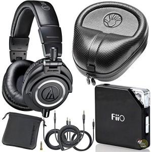 Audio Technica Audio Technica M50X Dj Studio Headphones W/ Fiio E06 Amp & Hard Case Headphones