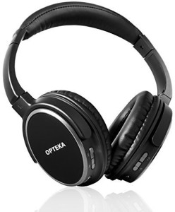 Opteka Btx-5 Wireless Bluetooth 4.0 Headphones With Built-In Mic, 15 Hour Battery & Deluxe Case Wired bluetooth Headphones