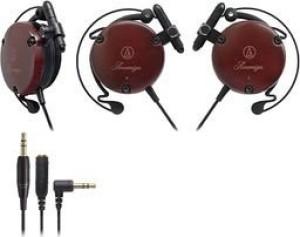 Audio Technica Import Ath-Ew9 Adjustable Wooden Clip-On Earphone Headphones