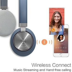 Mipow M3 Bluetooth Wireless Over The Ear Headphone With Build In Retractable Audio Cable, Microphone With Noise Cancellation For Hands-Free Wired bluetooth Headphones