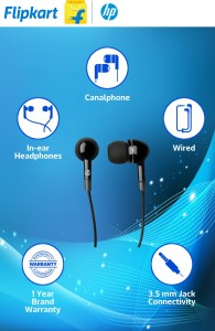 HP H1000 In the ear Wired Headphones Black In the Ear Best Price in ... f83b3acd28