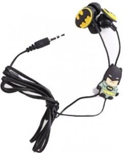 Orico Batman 3D Cartoon Stereo Wired Headphones (Black, In the Ear) Headphones