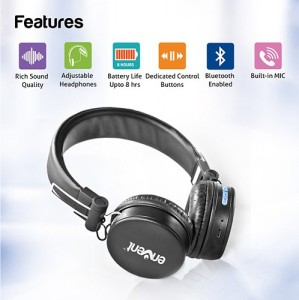 1f17f8d6931 Envent LiveFun 550 ET-BTH003-BK Wired & Wireless bluetooth HeadphoneBlack,  Over the Ear