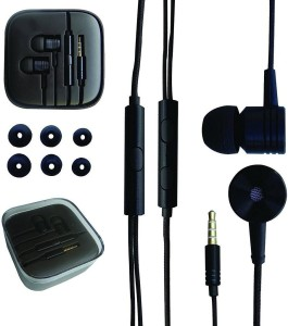 NSSTUFF Mi Piston Earphone Headphone REDMI XIAOMI Headset with volume Control and Mic (Black Color) Wired Headphones