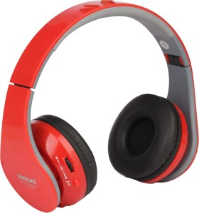 dfc59472717 Sonilex SL-BT02 Wired & Wireless bluetooth HeadphonesRed, Over the Ear