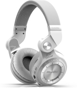 Bluedio T2 Plus White Wired & Wireless bluetooth Headphones