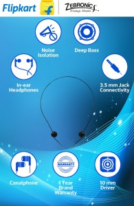Zebronics Atom Wired Headphone