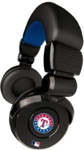 Ihip Official Mlb - Texas Rangers - Noise Isolation Pro Dj Quality Headphone With Detachable Cord And Built-In Microphone With Headphones