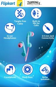 Zebronics ZEB-TUNES Wired Headphones