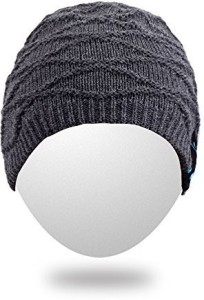 Rotibox Rechargeable Bluetooth Audio Beanie Hat Fashional Double Knit Skully Cap W/ Wireless Stereo Headphone Headset Earpiece Speakerphone Mic For Wired bluetooth Headphones