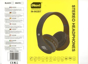 f62109700dc iNext IN 902 HP Black Wired & Wireless bluetooth HeadphonesBlack, Over the  Ear