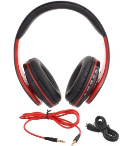 iNext IN 916 HP Red Wired & Wireless bluetooth Headphones