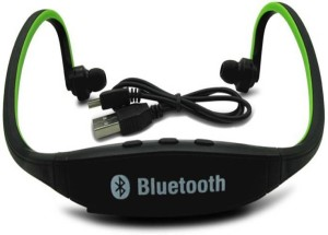 SUNLIGHT TRADERS Elite Mkt Bluetooth Music Sport wireless 1 Wireless Bluetooth Headset With Mic (Green)-BS7 bluetooth Headphones