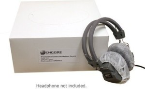 Encore Data Products Disposable Sanitary Headphone Covers Large For Over-Ear Headphones 500 Piece Carton Headphones