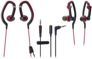 Audio Technica Audio Technica Ath-Ckp200 Rd   Waterproof Sports In-Ear Ear-Hanger Headphones (Japanese Import) Headphones