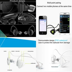5d625c5cf01 CRAZY HEAD SH03D SPORTING, JOGGING, GYMINING DEEP BASS WATER PROOF (EVEN IN  RAIN) (HMA) Wireless Bluetooth Headset With MicBlack