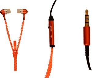 Amaze US ZipperD-04-Orange Wired Headphones