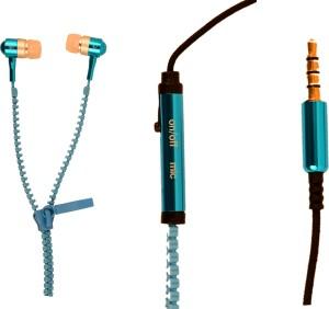 Amaze US ZipperD-01-Blue Wired Headphones