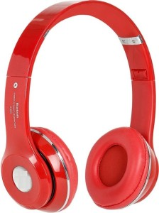 MSE RED Bluetooth High Bass S460S Dynamic Music Stereo-K3 Wired & Wireless bluetooth Headphones