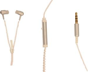 Amaze US ZipperD-01-White Wired Headphones