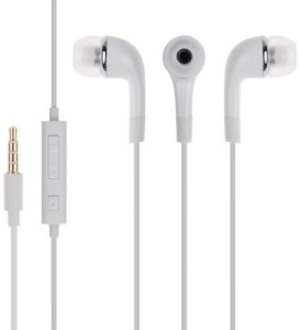 KASCN Genuine New Model Wired Handsfree/ Earphone in white for all mobiles Wired Headphones