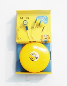 Kuhu Creations Despicable me earphones with microphone and storgae wrap box Wired Headphones