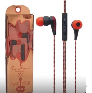 Signature Signature Earphone For Samsung/ Lenovo Mobile Wired Headphones