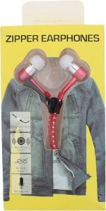 Goldendays Creations Zip Style Red Earphone Wired Headphones