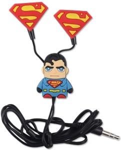 Superman 3D Cartoon In Ear Earphones Wired Headphones