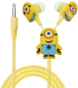 ShoppingKiSite Minion Cartoon Earphone for Android Mobile,Windows Phone,iPhone and Media Player Headphones