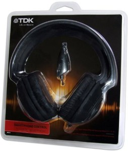 Tdk Life On Record Mpi110 Over-Ear Headphones With In-Line Microphone And Smartphone Control Headphones