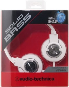 Audio Technica Solid Bass Portable Headphone Ath-Ws33X Wh (Japan Import) Headphones