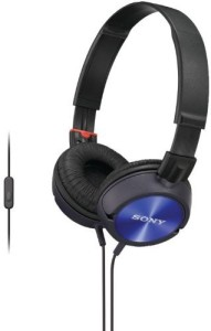 Sony Mdr-Zx300Ap Sound Monitoring Headphones (Blue) Headphones