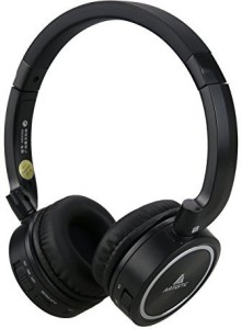 Artiste Wireless Bluetooth Headphones, Abh102 Over-Ear Stereo Hifi Noise Cancelling Headset With Microphone For Cellphone Computer(Black And ) Wired bluetooth Headphones