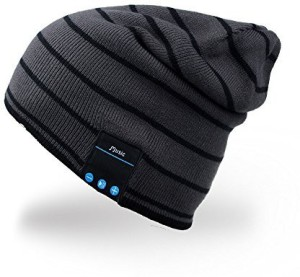 Mydeal Products Mydeal Bluetooth Hat Adult Unisex Trendy Soft Warm Knit Slouchy Beanie Skully Hat With Wireless Headphone Headset Speaker Mic Hands-Free,Christmas Wired bluetooth Headphones
