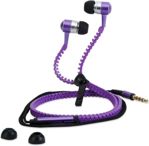 Cp Bigbasket Zipper-hf-Yellow In Ear Wired Earphones with Mic Headphone